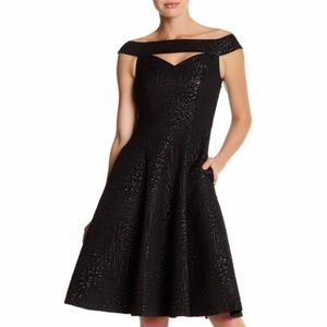 NWT Nicole Miller Black Aline Party Dress 0